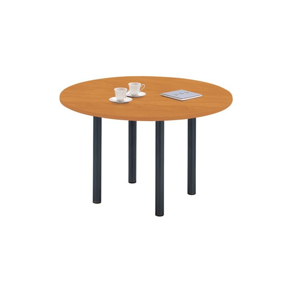 table ronde pied 4 pieds fixes h s. Black Bedroom Furniture Sets. Home Design Ideas