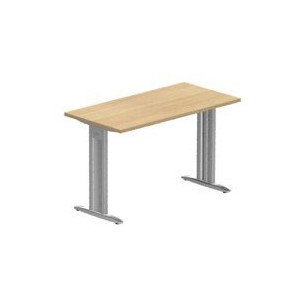 Idol Table de bureau rectangulaire Prof. 60 cm traverse pieds I fixes avec carter_