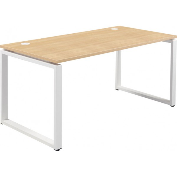 conect table de bureau rectangulaire sur pieds boucle fixes h s. Black Bedroom Furniture Sets. Home Design Ideas