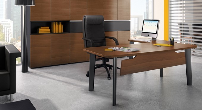 Mobilier de bureau direction bois oxford for Mobilier bureau pau