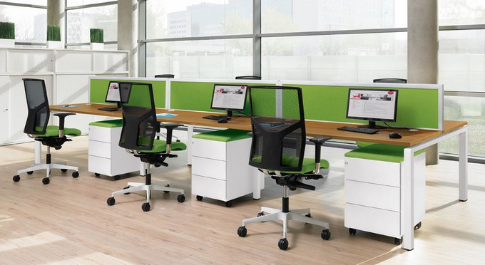 Mobilier de bureau professionnel bench connect eol business for Mobilier pour salon professionnel